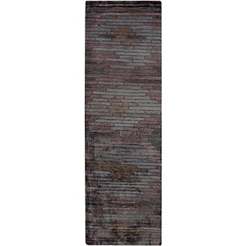 Surya Platinum PLAT9005 Purple/Black Modern Area Rug