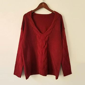 CABLE-KNIT & WOVEN BLEND SWEATER