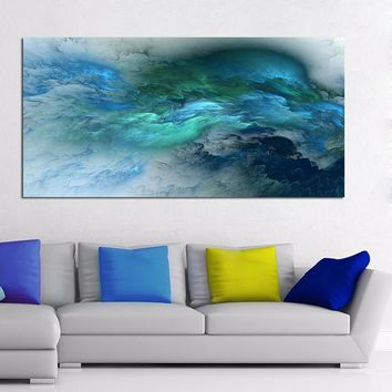 WANGART Abstract Colors Unreal Canvas Art  Wall Art Painting Living Room Large Home Decor Wall Hanging Modern Art Print Painted