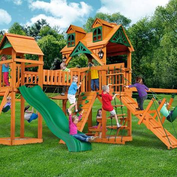Gorilla Playsets Pioneer Peak Malibu Wooden Swing Set
