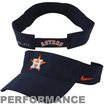 Nike Houston Astros Dri-FIT Stadium Adjustable Performance Visor - Navy Blue