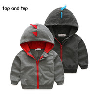 2016 new baby Clothing Cartoon Baby dinosaur sweater with a hood boy girl fashion clothes baby boy cute spring autumn colthes