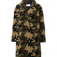 Camille Cocoon Coat Camouflage | STAND Official
