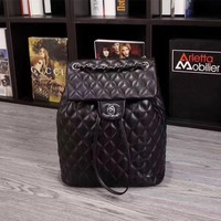 Chanel Women's Classic Leather Wintage Backpack Bag