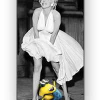 minion despicable me look marilyn for iPhone 4/4S Case *