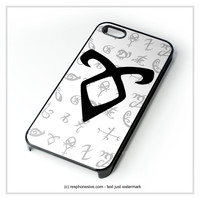 Mortal Instrument Logo iPhone 4 4S 5 5S 5C 6 6 Plus , iPod 4 5 , Samsung Galaxy S3 S4 S5 Note 3 Note 4 , HTC One X M7 M8 Case
