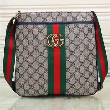 Gucci Men Fashhion Shopping Leather Tote Crossbody Satchel Shoulder Bag G-KSPJ-BBDL