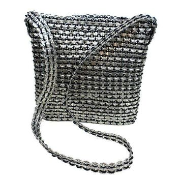 unique  Stylish Silver  Poptop Recycled Shoulder BAG handbag Purse / Messenger