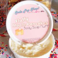 Fluffy Maple Pancakes Whipped Body Soap Fluff 8oz