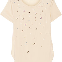 3.1 Phillip Lim - Embellished stretch-silk georgette top