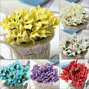 144Pcs Real Touch Calla Lillly Wedding Flowers Bouquets Callalily Home Decor [7981613511]