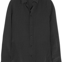 Saint Laurent - Polka-dot silk shirt