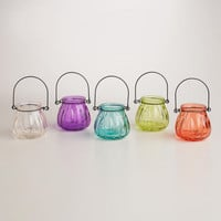 Glass Melon Tealight Lantern Candleholders, Set of 6 | World Market
