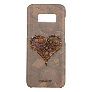 Steampunk Rusty Vintage Heart From Metal Gears Case-Mate Samsung Galaxy S8 Case