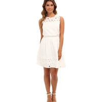Jessica Simpson Sleeveless Fit and Flare Dress w/ Embroidery Details and Elastic Waist Band