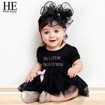 HE Hello Enjoy Baby girl dress Baptism Christening Gown dresses for newborn clothes black 1 year princess dress vestido infantil