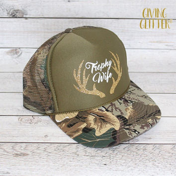 Trophy Wife - Deer Antlers // Trucker Hat