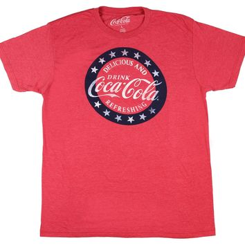 Coke Drink Coca-Cola Delicious And Refreshing Distressed Logo T-Shirt