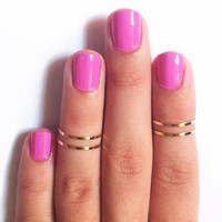 24k Gold Thin Knuckle Rings