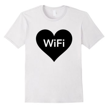 WiFi T-shirt - I Heart Wifi - I Love WiFi Tees