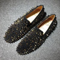 DCCK2 Cl Christian Louboutin Loafer Style #2314 Sneakers Fashion Shoes