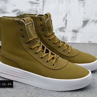 """Puma XO Parallel x The Weeknd"" Unisex Simple Casual Fashion Zip High Help Boots Plate Shoes Couple Thick Bottom Sneakers"