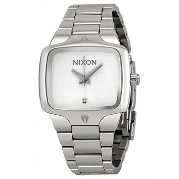 Nixon Small Player White Dial Stainlesss Steel Ladies Watch A300100