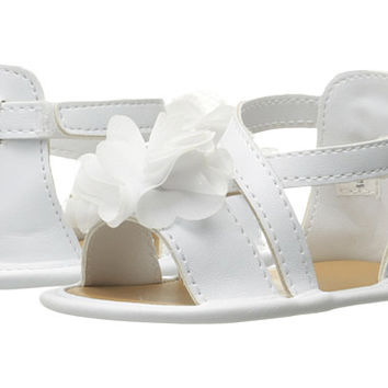 Baby Deer Crisscross Sandal with Flower (Infant) White - Zappos.com Free Shipping BOTH Ways