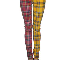 Plaid Split Leg Jeans from Tripp NYC