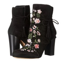 Chunky Heeled Embroidered Boots   2 Colors
