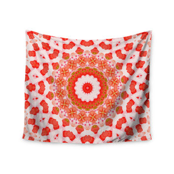 "Iris Lehnhardt ""Mandala I"" Red Orange Wall Tapestry"