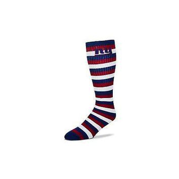 New York Giants Striped Knee High Hi Tube Socks One Size Fits Most Adults