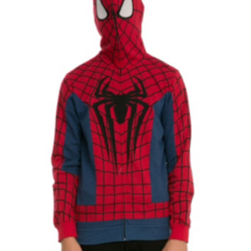 Marvel Spider-Man Costume Full Zip Hoodie