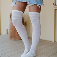 The Ruche Over The Knee Socks Set of 4