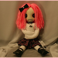 OOAK Hand Stitched Psycho Rag Doll Creepy Gothic by TatteredRags