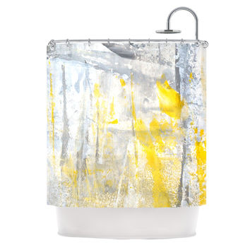 "CarolLynn Tice ""Abstraction"" Grey Yellow Shower Curtain"