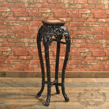 Antique Chinese Rosewood Plant Stand