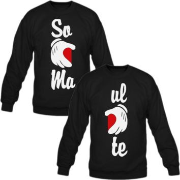 Soul Mate Crewneck Sweatshirt Love Couple
