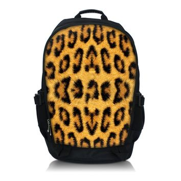 "Leopard  Print  Laptop Backpack School Book Backpack Travel Bag Up To 15.6"" Laptop"
