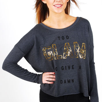 Junk Food Too Glam To Give A Damn Tee