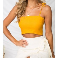 MOONTINI TOP - Mustard - TOPS - SHOP NEW