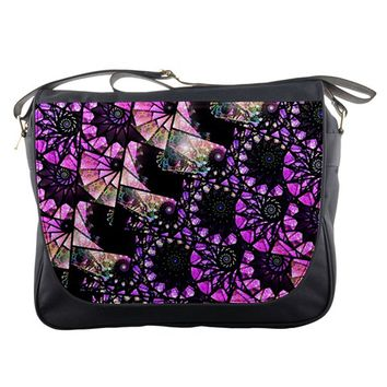 Hippy Fractal Spiral Stacks Messenger Bag