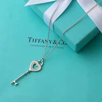 Tiffany & Co. Three-tier heart key necklace