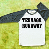 Harry Styles TShirts Teenage Runaway TShirts One Direction TShirts Raglan Tee Baseball Tee Shirts Unisex TShirts Women TShirts Men TShirts