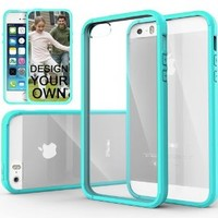 iPhone 5S Case, Caseology® [Fusion Series] Scratch-Resistant Clearback Cover [Turquoise Mint] [Dual Bumper] for Apple iPhone 5S - Turquoise Mint