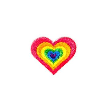 Rainbow Heart Mini Sticker Patch