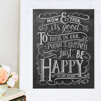 Just Be Happy - Print