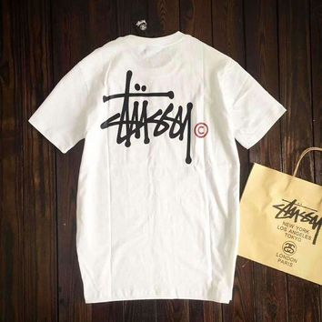 VONEGZ Stussy Women With Men Fashion Cartoon Print Casual Blouse Tee Top G-A-GHSY-1