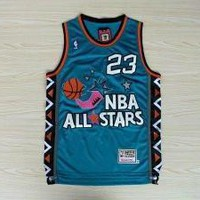 Michael Jordan Mitchell & Ness Blue 1996 NBA All-Star Game Hardwood Classics Jersey #2