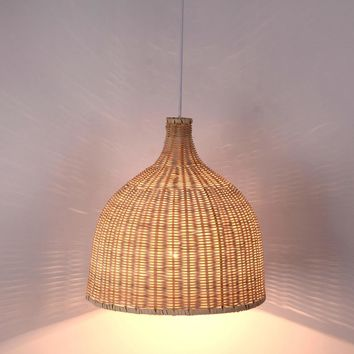 Rustic Japanese Style Bamboo Light Fixture